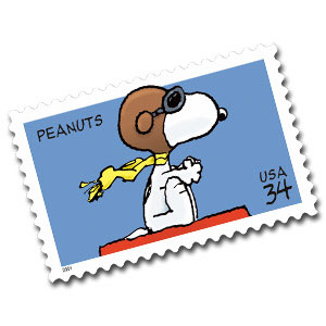 The United States Postal Service Will Honor Charles Schulzs Comic Strip Peanuts With A Postage Stamp Featuring Snoopy On Top Of His Dog House As